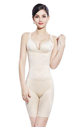 Amhillras donna striscia riduttiva addome della riduzione cintura di modanatura body shapewear intimo modellante body mutandine con gamba aperta in fondo facile su toilette