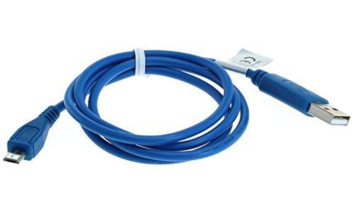 GIGAFOX® USB Sync-Kabel, Ladekabel, Datenkabel (Micro-USB) 1m, blau für Becker Ready 70 LMU ersetzt: Nokia CA-101, Samsung PCBU10 - für schnelles Laden