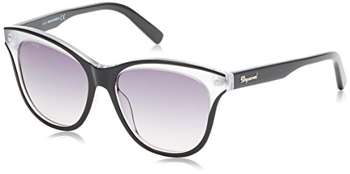 Dsquared2 Damen Cat Eye Sonnenbrille, Schwarz (Nero/Bianco), 55