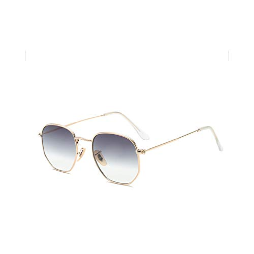 Sportbrillen, Angeln Golfbrille,Polygon Frame Metal Square Sunglasses Women Classic Vintage Pilot Sun Glasses Brand Design Gradient Sunglasses Oculos C1