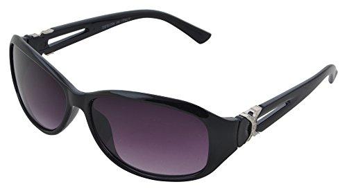 Modish Look Farbverlauf cat-eyed Frauen Sonnenbrille (60mm|) (schwarz, schwarz)