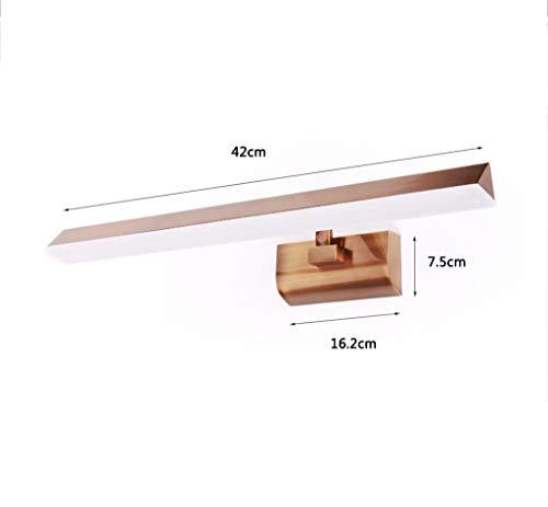 MJY Mode führte Taschenlampe vor Spiegel, europäisches Spiegel-Toiletten-Feuer vor dem Test der Feuchtigkeit verrostet Retro- Lampen-Lampe bequemer Spiegel lang 42/68 cm,Long42cm, neutral,