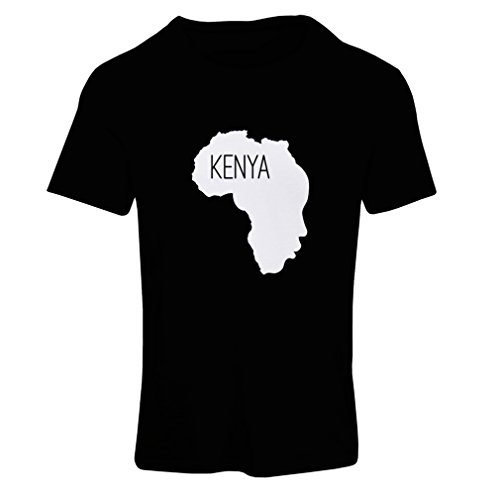 N4200F Save Kenya ! Short Sleeve t-shirt femelle Black White