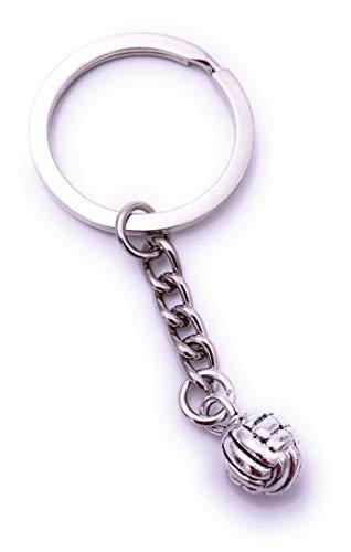 eyball Sport Ball Schlüsselanhänger Keychain Silber aus Metall ()