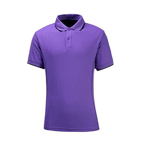 Hokivin Herren Golf Polo T-Shirt Sommer Sport Shirts Kurzarm - Violett - 3X-Groß -