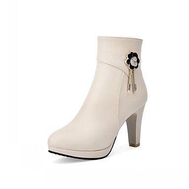 Rtry Chaussures Pu Cuirette Automne Hiver Confort Bottes Nouveauté Mode Chunky Talon Bout Rond Bottillons / Bottines De Strass Us5 / Eu35 / Uk3 / Cn34