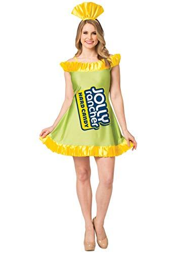 Dress Fancy Apple Kostüm - Jolly Rancher Womens Apple Jolly Rancher Fancy Dress Costume Medium/Large