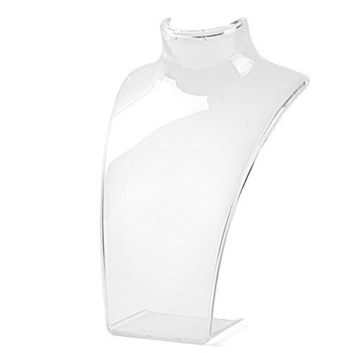 Lyhhai gioielli collana orecchini plastica manichino busto espositore organizer e plastica, colore: transparent, cod