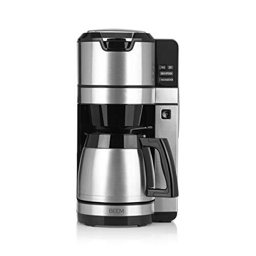 BEEM FRESH-AROMA-PURE Filterkaffeemaschine mit Mahlwerk - Thermo | Permanentfilter | Edelstahl | 1,25 l Thermokanne | 24-Stunden-Timer |1.100 W (NEU 2019)