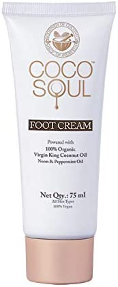 Coco Soul Beauty Foot Cream With Virgin King Coconut Oil (Vegan, Sulphate & Paraben Free), 7