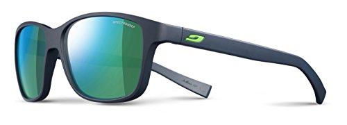 Julbo Sunglasses J 475 Powel 1112 Acetate Plastic Matt Blue Black with Green Mirror Effect
