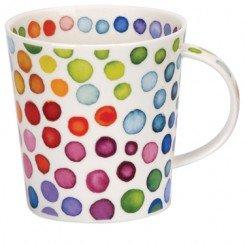 DUNOON Formano Tasse Cairngorm Hot Spots Gepunktet 11 cm, Blau Grün Rot Orange Gelb Lila Pink, 1 Stück (Hot Herz Tee Pink)