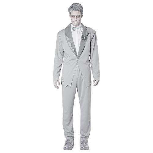 splay Kostüm Adult Cosplay Leiche Zombie Bräutigam Geist Braut Weiß Kostüm Geeignet Für Karneval Thema Parteien Halloween Neujahr Festival ()