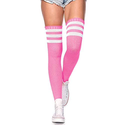 (Leg Avenue 6605 - Athlete over the knee socks, Einheitsgröße, Neon Rosa)
