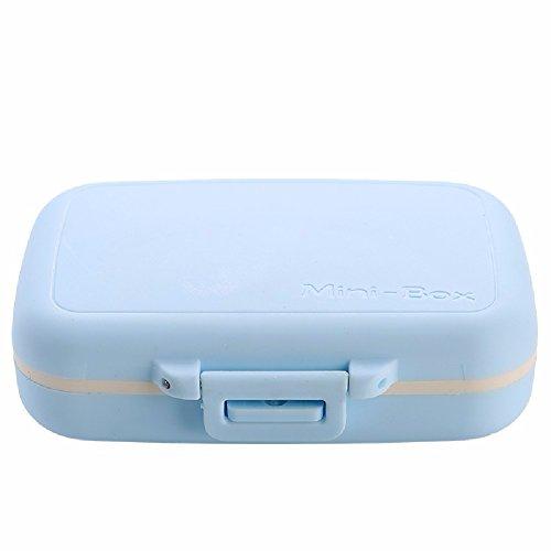 Private Medizin - Box Tragbare Mini - Tragen Kleine Medizin - Box Versiegelt Pille Split Medizin - Box Reisemedizin - Box,Blau