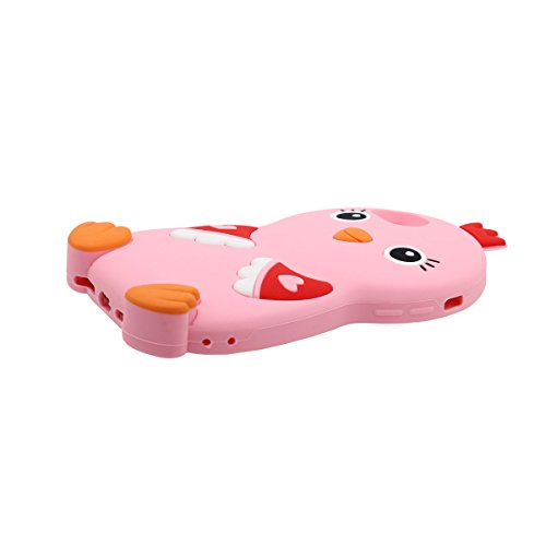 """Joli Mignonne Animal Petit poulet Apparence iPhone 7 Plus Coque Case, Housse de Protection Anti Choc pour Apple iPhone 7 Plus 5.5"""" Doux Élastique Silicone Rubber - Jaune Rose"""