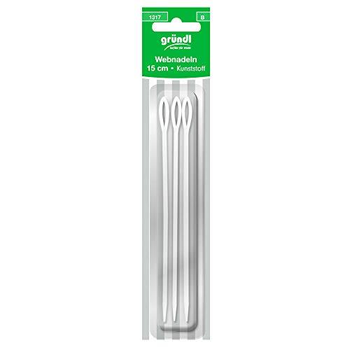 3 Webnadeln | je 15cm Lang | mit großem Nadelöhr | aus Kunststoff