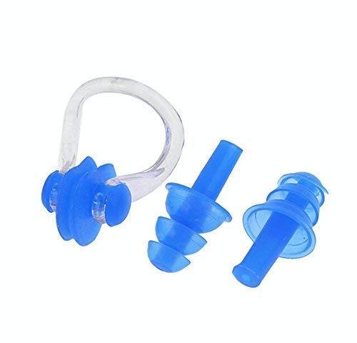 xtrafast Nasenklammer und Ohrenstöpsel Schwimmen Sport Ohrplug Nose ClipEar Plug Set Blau