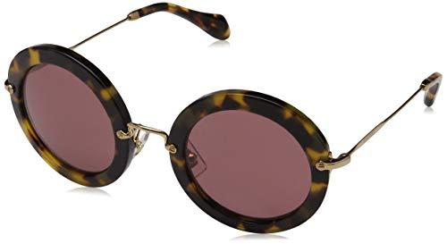 Miu Miu Damen 0MU10RS UES0A7 64 Sonnenbrille, Silber (Transparent/Fabric SIL/Grey)
