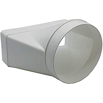 Straight 125mm Round Female Duct Adapter To Rectangular