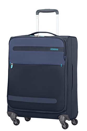 American Tourister 80371/1549 Herolite Super Light Spinner Bagaglio A Mano, 55 cm, 42 litri, Midnight Blue