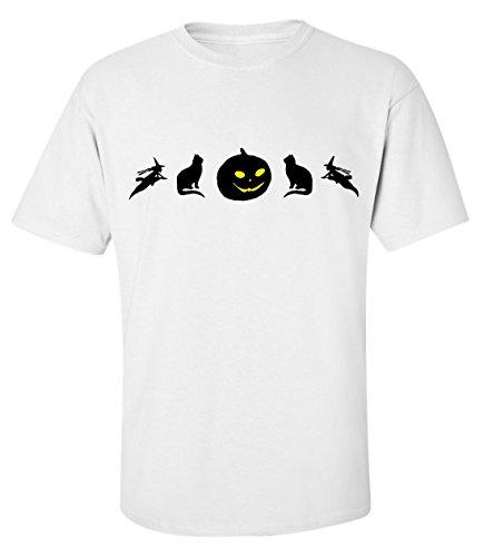 Halloween icons dopen t-shirt herren baumwoll weiss (Halloween Finn Und Jake)