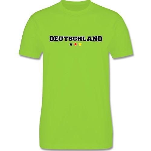 EM 2016 - Frankreich - Deutschland College Schriftzug - Herren Premium T-Shirt Hellgrün