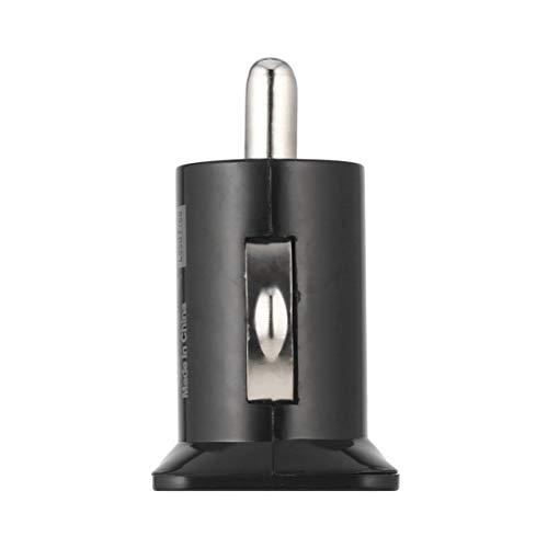 Candyboom Mini Caricatore per Auto Universale USB 2 caricabatteria da Auto Mini Bullet 5V 2.1A + 1A Caricabatteria da Auto per telefoni cellulari Tablet P
