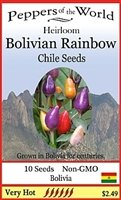 *Seeds & Things 10+ BOLIVIAN RAINBOW ORNAMENTAL HOT CHILE PEPPER SEEDS-- by Seeds and Things