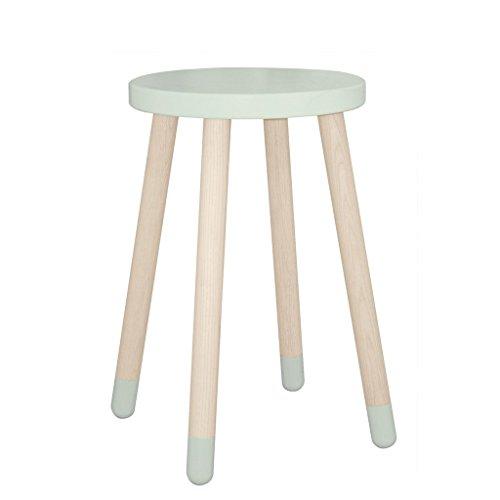 Flexa Mesa auxiliar con pies de madera de roble 'Jugar' en verde / Verde Menta...