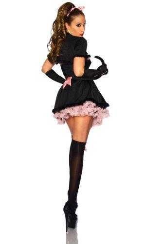 Yourdesignerz Katzen-Kostüm Damen schwarz/rosa (Bear Kostüm Cat)