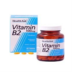 Vitamin B2 (Riboflavin) 100mg - Prolonged Release Tablets 60' by HealthAid from HealthAid