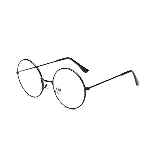 unde Brillen Klare Linse Gläser Ultra Light für Santa Claus und Harry Potter Cosplay (schwarz) (Santa Brille)
