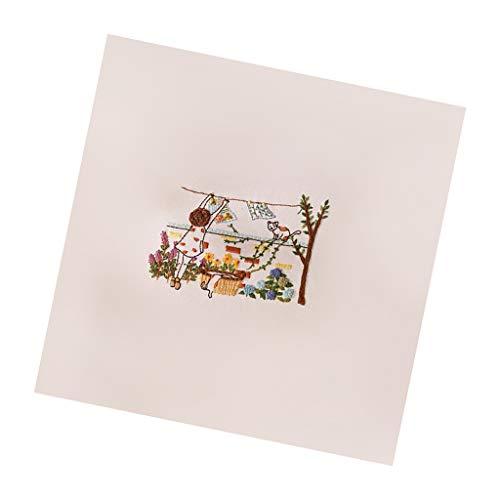 Hellery Kreuzstich Stickpackung Stickbild Stickerei Stickvorlage vorgedruckt Leben Muster für Erwachsene & Anfänger - 2 -