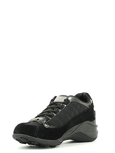 Fornarina Sneaker Hoch Damen Steigen Cm 6 Quilted suede Nylon Woman Black Black IrBbpHhR