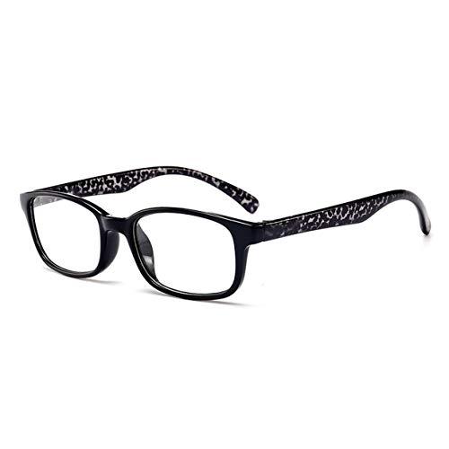 T980 Lesebrille Dioptrien +1.0 bis +4.0 Frauen Männer Vollformat-Brillen mit runder Linse Presbyopie-Brille Ultraleichte Anti-Müdigkeit