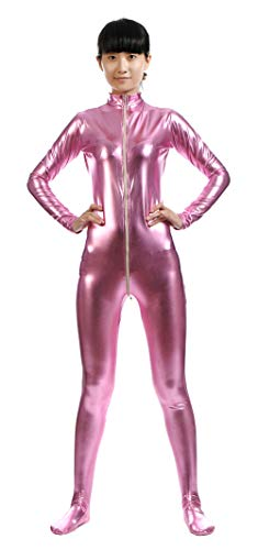 Kostüm Unitard Rosa - Insun Unisex Ganzkörperanzug mit Füßen Catsuit Unitard Anzug Suit Kostüm für Erwachsene und Kinder Rosa 3XL