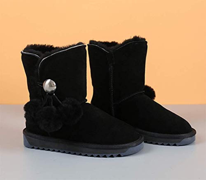 ZYT Donne Inverno Stivali Stivali Stivali La Neve Stivali Hairball Bowknot Vacchetta Scamosciato Faux Comfort Casual Classico... | Numerosi In Varietà  | Uomini/Donne Scarpa  637dca