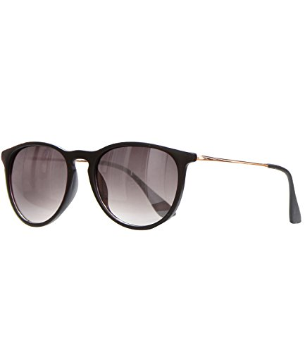 caripe Retro Sonnenbrille Damen Herren Hornbrille Metallbügel Vintage verspiegelt + getönt - 139...
