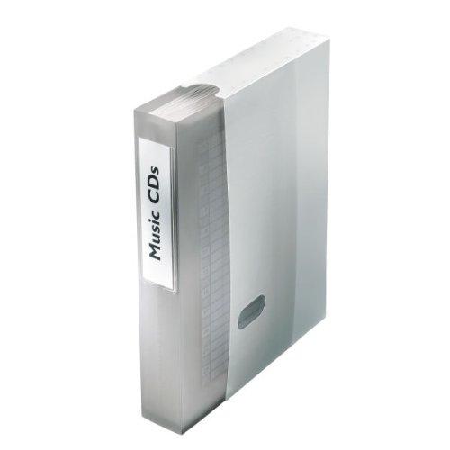 Preisvergleich Produktbild Esselte-Leitz 67091 CD / DVD-Sichtbuch für 48 CD / DVDs,  PP,  silber