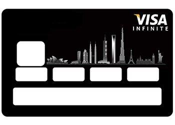Stickers CB carte bleue Infinite pour carte bancaire