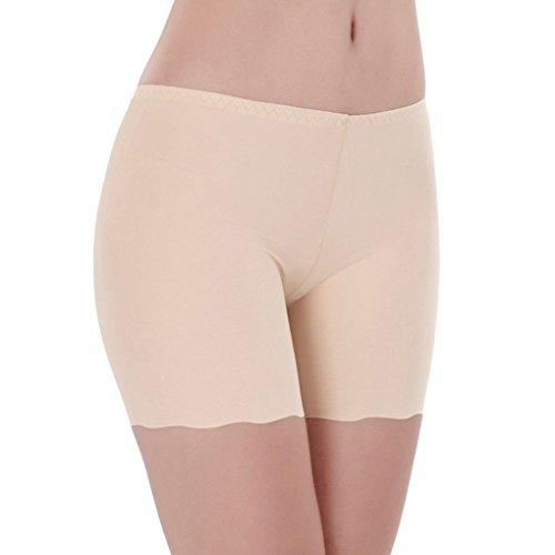 GOTTING Mujeres de Seda del Hielo Ropa Interior sin Costuras Elástico Safty Pantalones  Cortos de Exposición 29bc9d1a399c