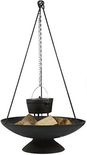 Esschert Design Dreibein für Feuerschale, aus Eisen, 6 x 5 x 118 cm, Feuerschalen Zubehör, Aufhängung für Kochtopf