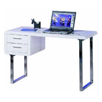 Schreibtisch weiß mit schubladen  Links 50501010 Schreibtisch weiß hochglanz Computertisch PC-Tisch ...
