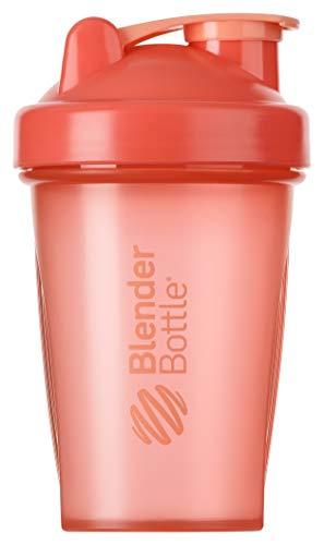 BlenderBottle Classic Shaker mit BlenderBall, optimal geeignet als Eiweiß Shaker, Protein Shaker, Wasserflasche, Trinkflasche, BPA frei, skaliert bis 400 ml, Fassungsvermögen 590 ml, coral