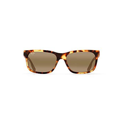 Maui Jim Designer Mens Sunglasses Polarised - Eh Brah 28402 - Gloss Black Wayfarer Frame with Neutral Grey Polarised Lens - Free Shipping, Free Returns, 12 Month Warranty - Size: 55--17--140 - Color: Tokyo Tortoise
