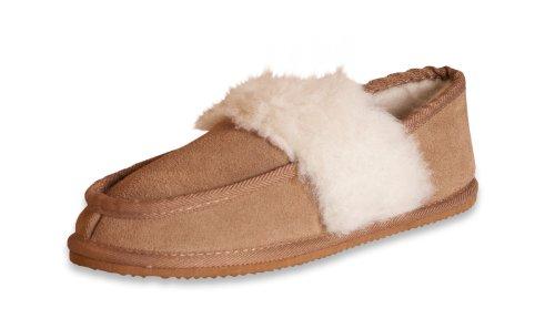 Nordvek - # 441-100 - Pantofole in camoscio e lana donna Castagna