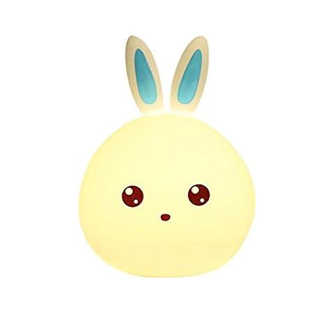 VEMOW Lovely Rabbit Smile Face Night Light Children Bedroom Decor Mini LED Lamp Bulb