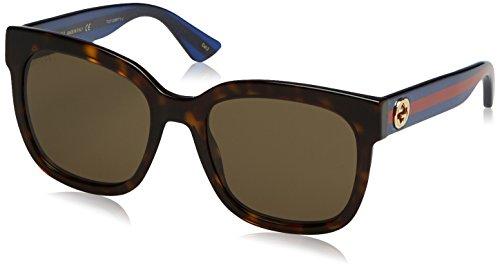 Gucci Damen GG0034S 004 Sonnenbrille, Braun (Avana/Brown), 54