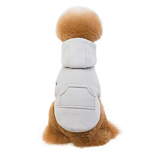 JFS Haustierkleidung Für Hunde, Welpen-Haustier-Hundekleidungs-Sweatshirt-Winter-Kapuzenpulli-Warmer Strickjacken-Mantel-Kostüm-Kleid Für Gehendes - Pille Brust Kostüm